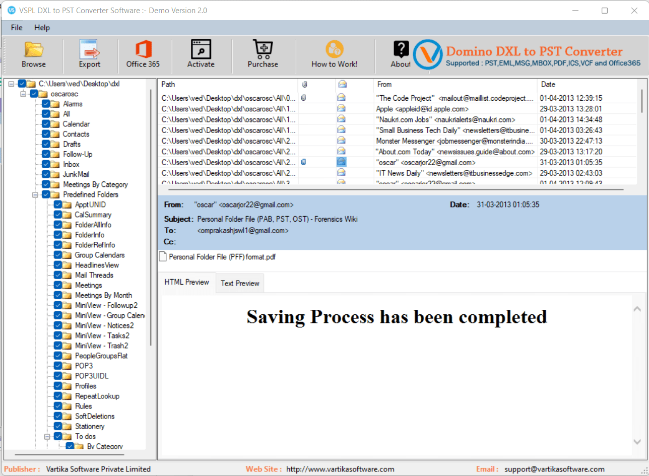 Completed DXL Message Conversion Process