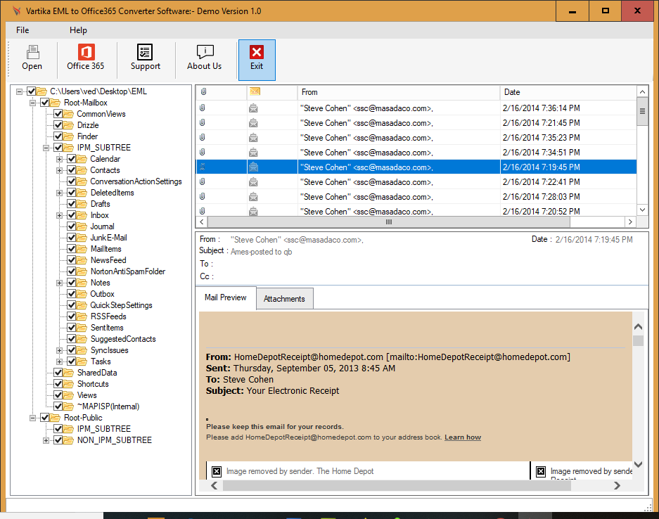 EML to Office365 Converter