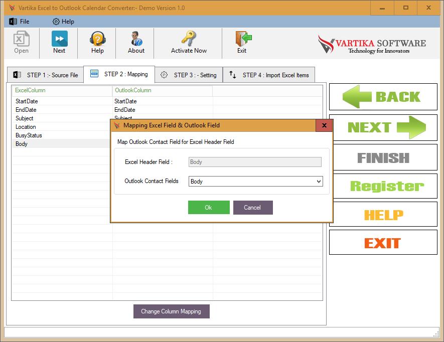 Use Excel to Outlook Converter Software to Export Excel to Outlook Calendar