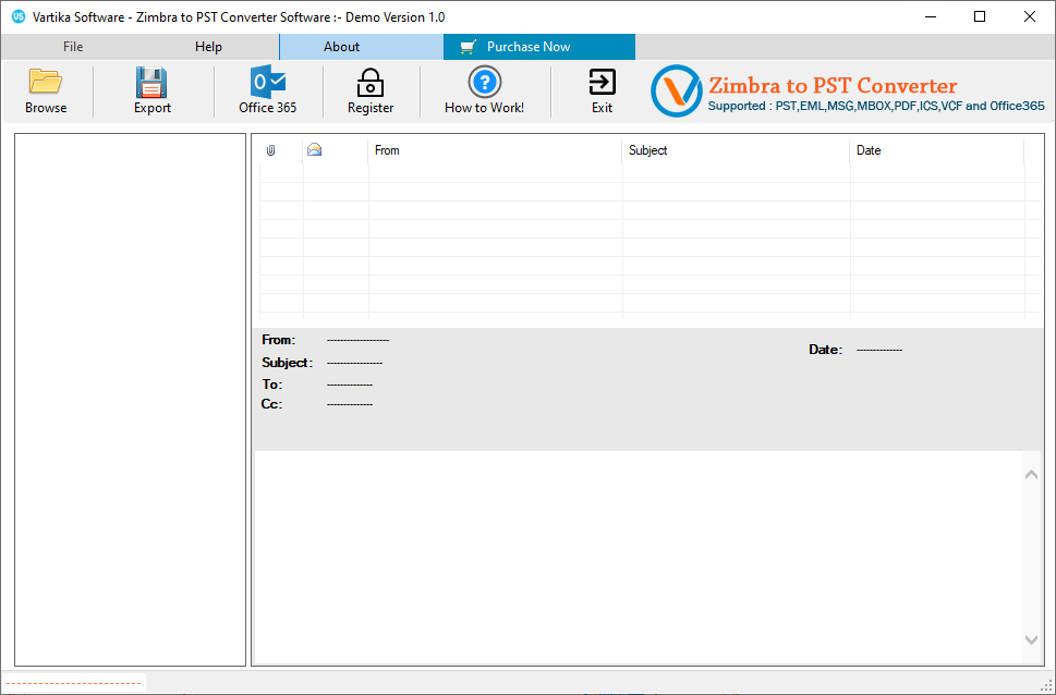 First Impression Vartika Zimbra to PST Converter